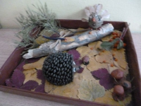 Прошла в октябре выставка поделок из природного материала.